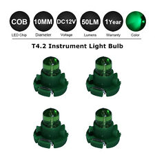 4X Green 10MM T4.2 Neo Wedge 1SMD LED Cluster Instrument Dash Panel Climate Bulb