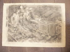 DESSIN RUSSE 1951 AU CRAYON SIGNE RUSSIE RUSSIAN