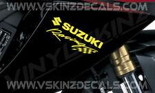 2x Suzuki Racing Premium Cast Decals Stickers GS GSX GSXR 1000 750 600 RR 200mm