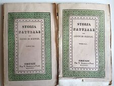 """DUE LIBRI ANTICHI BROSSURE DECORATA ACQUERELLATA """"STORIA NATURALE"""" 1832"""
