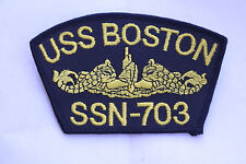 AUTHENTIC US NAVAL PATCH SSN-703 USS BOSTON NAVY PATCH