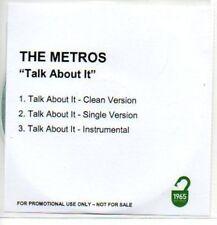 (435J) The Metros, Talk About It - DJ CD