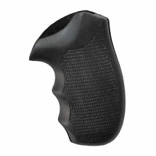 S&W J Frame Compact Round Butt Black Rubber Checkered New Grips