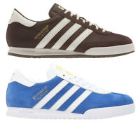 Adidas Original Mens Beckenbauer Lace Up Trainers Suede Brown Blue