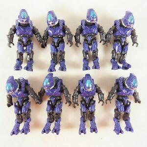 Lot of 8pcs Halo Construx Mega Bloks Covenant Purple Elite Ranger Mini figures