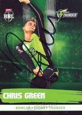 ✺Signed✺ 2016 2017 SYDNEY THUNDER Cricket Card CHRIS GREEN Big Bash League