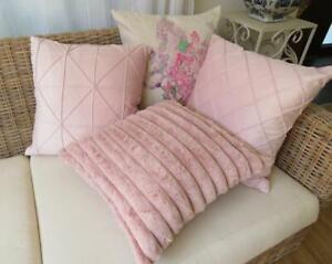 Home Mix & Match Pretty Pink Fur/Velvet Pillow Case Sofa Cushion Cover 45CM