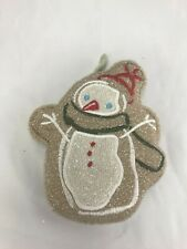 Snowman dish scrubber cleaning supply
