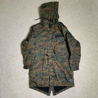 Zara Man Size Medium Camoflauge Flaux Sherling Parka Winter Jacket