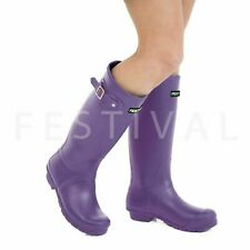 Womens Ladies Tall Festival Wellies Wellington Boots Size 3 4 5 6 7 8 9