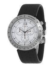 Teno 8002 Men's Chronograph Date Quartz Watch. Made Germany. Rubber Strap. New