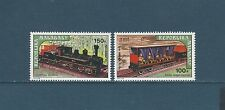 Madagascar  PA   chemin de fer trains locomotives   1974  num: 127/28  **