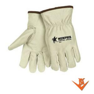 MCR Safety Artic Jack 3460 Pigskin Leather Glove w/Thermosock Liner-M-XL