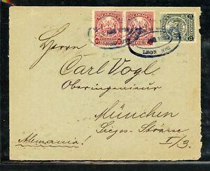 Nicaragua Postal History: LOT #16 1910 35c Arms LEON - MUNICH $$$