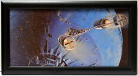 Star Wars MONSTROUS DEATH STAR SPACE STATION FRAMED CONCEPT PRINT McQuarrie 1977