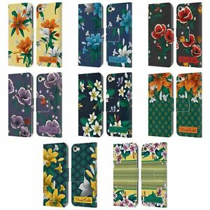OFFICIAL FRIDA KAHLO FLOWERS LEATHER BOOK CASE FOR APPLE iPOD TOUCH MP3