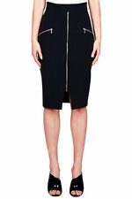 Dry-clean Only Solid 100% Silk Skirts for Women