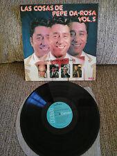 """LAS COSAS DE PEPE DA-ROSA VOL 5 LOS CUATRO DETECTIVES LP VINILO 12"""" VG/VG 1976"""