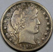 1909-O Barber Quarter Dollar Choice VF-EF...So NICE & ORIGINAL, Super TOUGH Date
