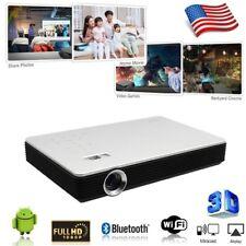 DLP ANDROID 7100 LUMENS 3D 4K HOME THEATER PROJECTORS 1080P CINEMA HDMI VGA RJ45