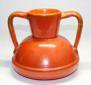 LARGE CATALINA POTTERY HANDLED VASE  (damaged handle)