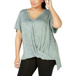 Calvin Klein Performance Women's Green Draped T-Shirt Athletic Plus Size 2X NEW
