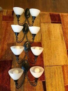 Wall lights - set of 4 matching lights