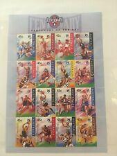 Australia #1507a Mnh Og Minature Sheet of 16 Australia Football