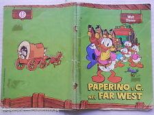 Vecchio quaderno scolastico di scuola PAPERINO E C. FAR WEST PIGNA WALT DISNEY