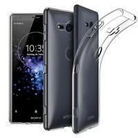 Dünn Slim Cover Sony Xperia XZ2 Compact Handy Hülle Silikon Case Schutz Tasche