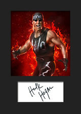 HULK HOGAN #3 (WWE) Signed Photo A5 Mounted Print - FREE DELIVERY