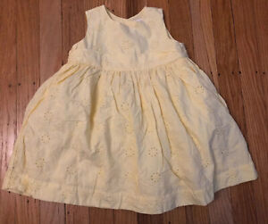 Baby Infant Gap yellow eyelet party dress baby girl 18-24 Months Summer Spring