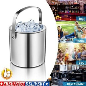 4-in-1 Summer Carnival Party Ice Buckets + Ices Tongs Double Vacuum Insulations