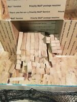 10 lbs 6 inch Red Oak Kiln Dried Blocks For BBQ, Cooking, Grilling, Smoking!!!