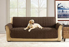 Sure Fit SOFA and LOVESEAT Waterproof Pet Cover Throw with Strap Chocolate/Brown