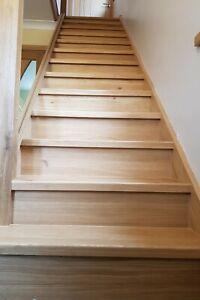 Oak Veneered Staircase Risers Set of 13 Straight Untreated Risers