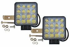 2 x 16 LED Zusatzscheinwerfer Arbeitsleuchte Nebelscheinwerfer 12V/24V 48W SQS