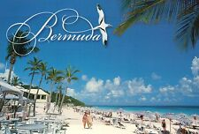 Elbow Beach Paget Parish Bermuda United Kingdom, Hotel Beach Umbrellas, Postcard