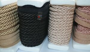 7 mm silky flanged cord furnishing upholstery cushions piping - 1 m up to 20 m