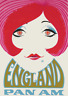 Vintage Airways Poster England Red Hair Vintage Airline Travel Art Print Poster