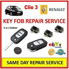 Renault Clio 3 . Remote Key Fob Repair Service Trusted Repairer, Same Day Repair