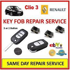 Renault Clio 3 . Remote Key Fob Repair Service Trusted Repairer, Same Day Repair