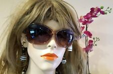 Girls Woman Sports Fashion Eye wear Sunglasses Striped brown frame (#508)
