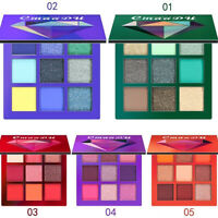 9 Color Cosmetic Glitter Eyeshadow Powder Eye Shadow Makeup Palette Shimmer Set