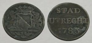 ☆ REMARKABLE !! ☆ 1783 Revolutionary War Era - Colonial Coin ☆ w/ lions & crown