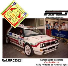 DECAL/CALCA 1/43; Lancia Delta Integrale; Cardin-Marcos; Rally Principe 1992