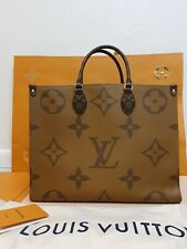 Louis Vuitton M44576 OnTheGo Reversible Tote Bag - Brown