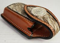"Cowhide Leather 2"" Belt Case Pocket Knife Tool 4.25"" x 1.75"" Case Holder"