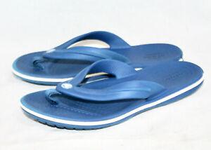 CROCS Kids Crocband Thong Flip Flop Sandal Boy Girl J-1 Blue