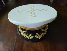 USMC Marines Officer Dress Hat / Cap White Lancaster  7 1/4?